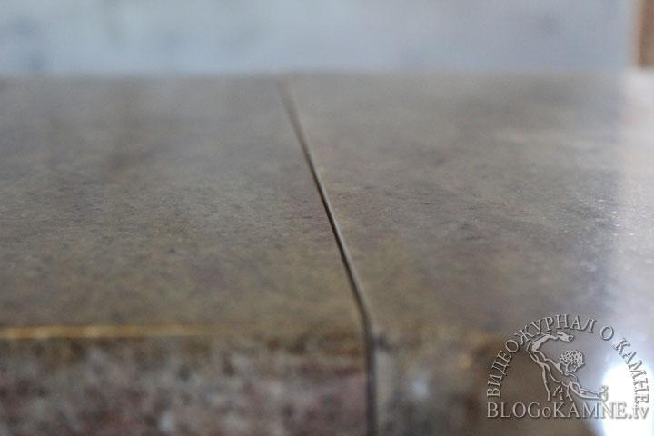 стыковка столешницы из гранита