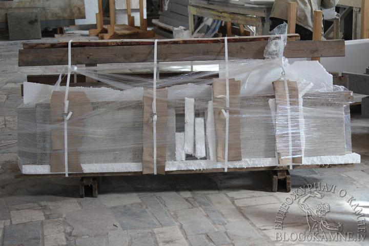 упаковка гранитной столешницы