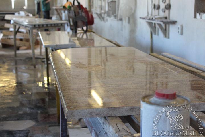 изготовление столешницы из гранита Madura Gold
