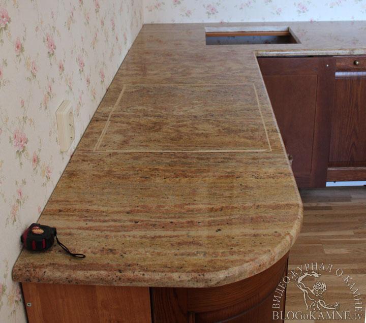 установка каменной столешницы