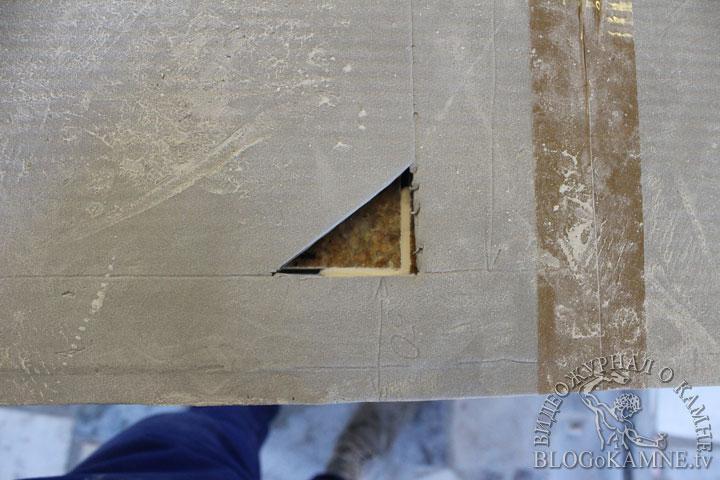 вырез под варочную плиту