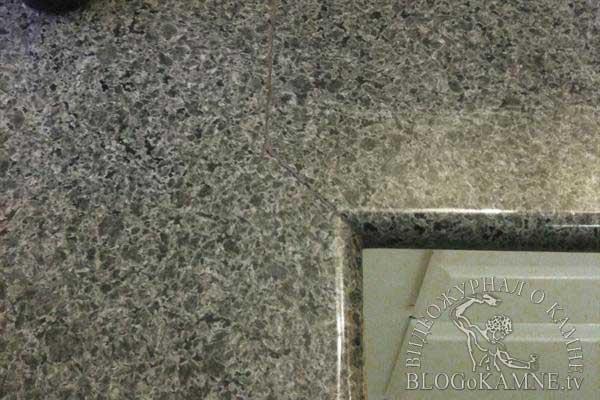 соединение профиля каменной столешницы