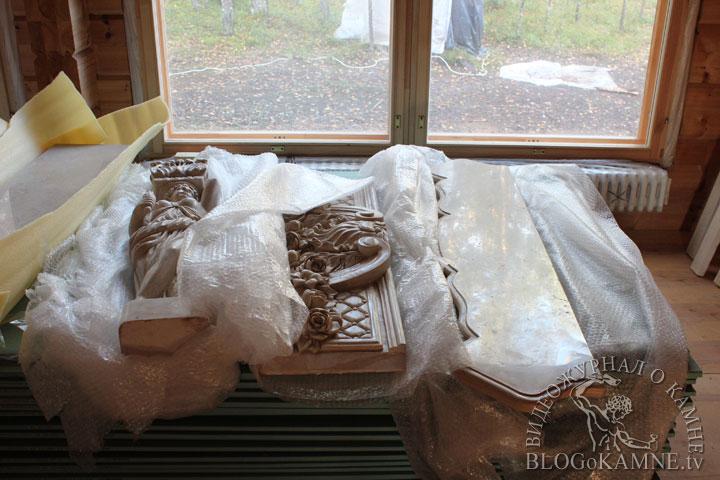 сборка мраморного камина
