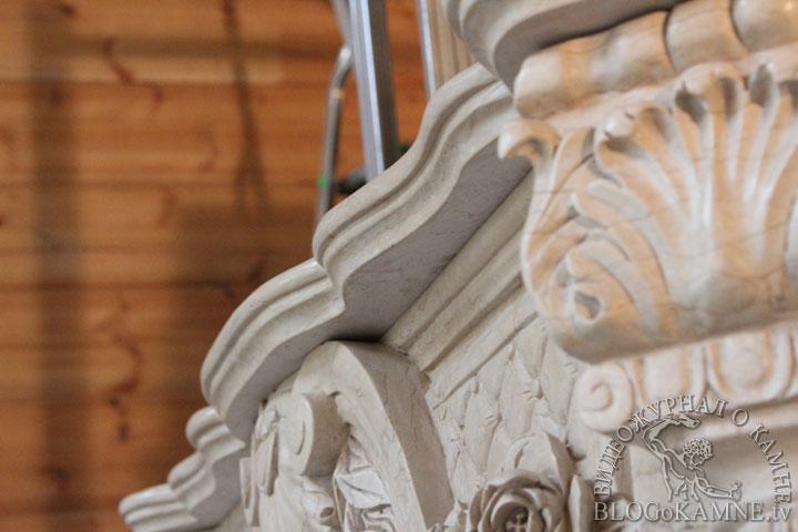 монтаж и реставрация полки камина