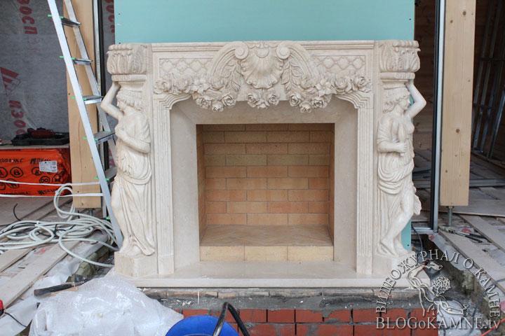 реставрация портал из мрамора