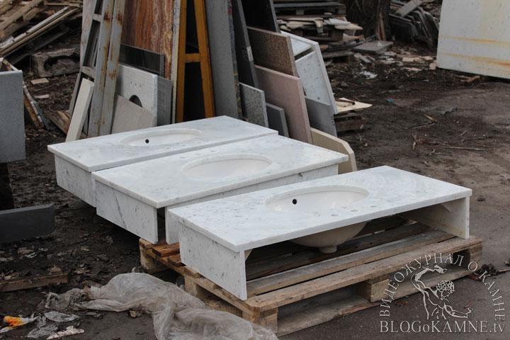мраморные столешница для ванной