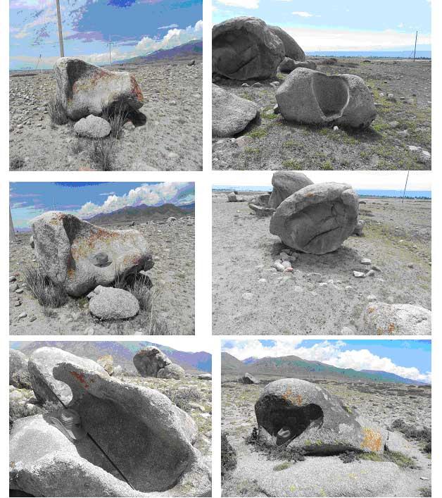 камни с желобами и полусферами