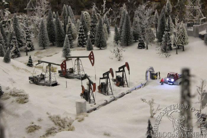 добыча нефти зимой на гранд макете россии